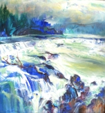 'HIGH WATER, WILLAMETTE FALLS'