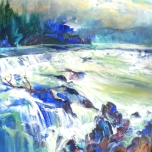 'HIGH WATER, WILLAMETTE FALLS'