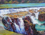 'LOW WATER, WILLAMETTE FALLS'