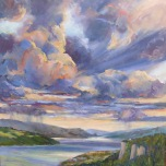 'STORM CLOUDS, COLUMBIA GORGE'