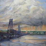 COMING STORM, STEEL BRIDGE