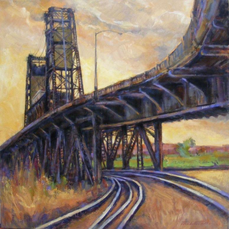 TRACKS TO STEEL BRIDGE