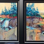 FALLS AND FIELDS (diptych)